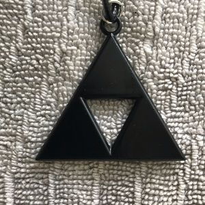 Black Legend of Zelda Triforce Necklace